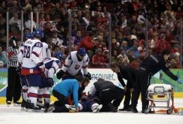 Травмы в хоккее с шайбой